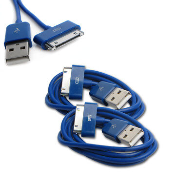 NEW 2X 6FT USB TO 30PIN BLUE CABLE CORD DATA CHARGER FOR GALAXY TAB TABLET