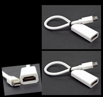 2X MINI DISPLAYPORT/THUNDERBOLT TO HDMI ADAPTERS APPLE MACBOOK AIR PRO MAC IMAC for sale  Shipping to India
