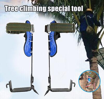 Treepole Climbing Spike Safety Belt Straps Adjustable Lanyard Carabiner 100kg