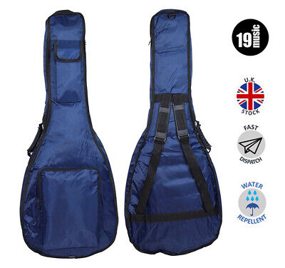 Blues Classical Guitar Case (Blue Padded 10mm Classical Acoustic Guitar Bag Case 39