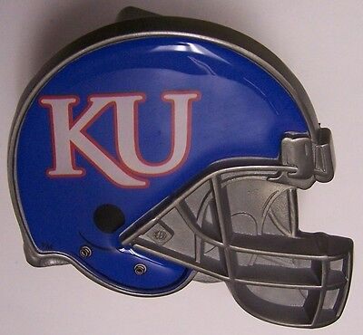 Trailer Hitch Cover Ncaa Kansas Jayhawks New Metal Football Helmet