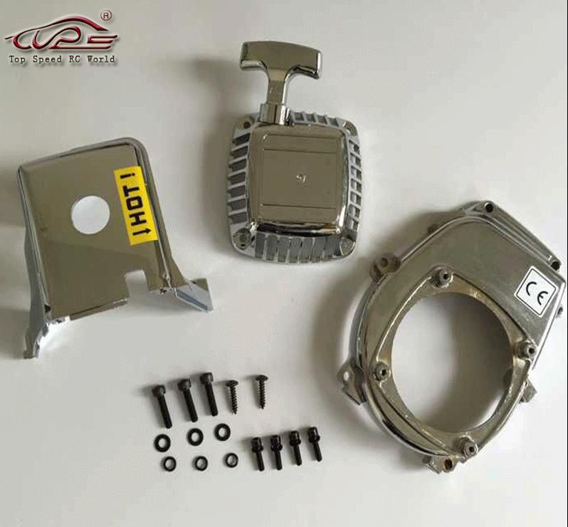Car Parts - Baja 5b chome engine cover set for 1/5 HPI baja 5b 5t km rovan rc car parts