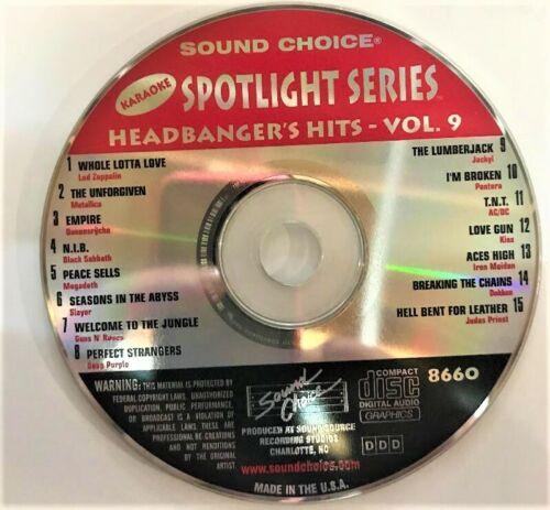 SOUND CHOICE KARAOKE SPOTLIGHT CD+G - 8660- HEADBANGERS HITS - VOL.9 - CDG