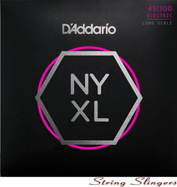 D'Addario NYXL45100 'NYXL' Carbon Steel Core 4-String Bass strings 45-100