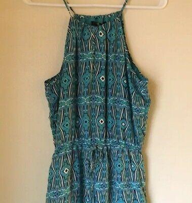 - Forever 21 Summer Dress, Blue, Size M high Neck  knee length