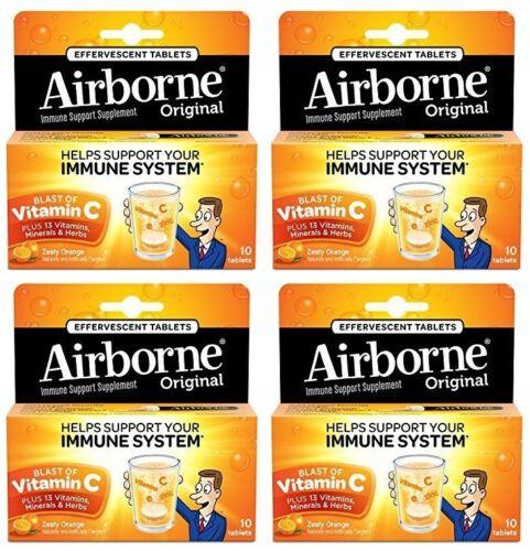 4 Pack Airborne Effervescent Health Formula Tablets, Oran...