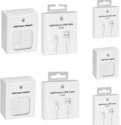 OEM Wall Charger 12W or 3ft/6ft Lightning USB Cable Apple iPad iPhone X 8 7 6 SE