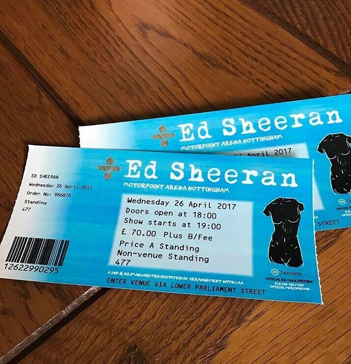 Image result for Ed Sheeran tickets