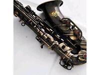 Professioanl Antique TaiShan Eb Alto Saxophone Sax High F# Saxophone With Case