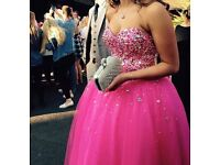 Gorgeous pink detailed bodice prom dress