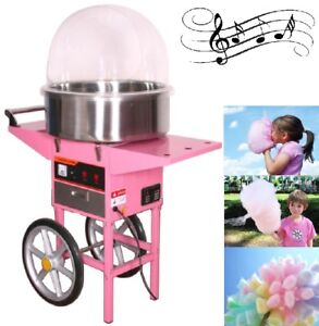 NEW COTTON CANDY MACHINE FLOSS & POPCORN MACHINES PARTY CART