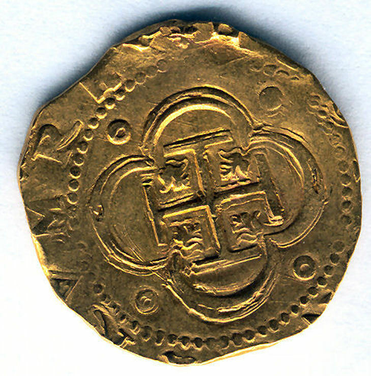Felipe Ii 4 Shields 1556 - 98 ( Cross ) N.d. Seville Gold @ Very Bella @