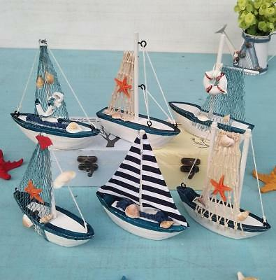 Nautical Art crafts Sailboat Model Wooden home Decoration crafts Kids Gift - Nautical Crafts