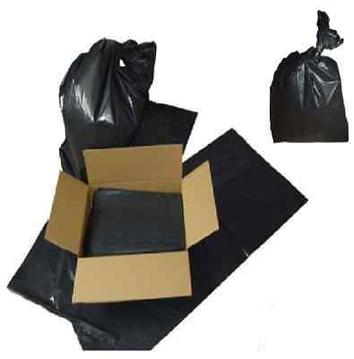 50 x COMPACTOR SACKS HEAVY DUTY STRONG REFUSE / RUBBISH BLACK BAGS BIN LINERS