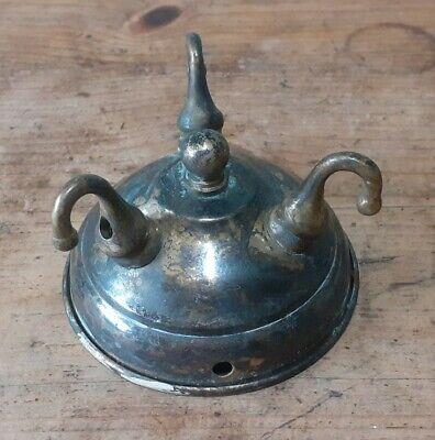 Reclaimed Brass Lighting Hook Bracket Rose Chandelier Pendant 4