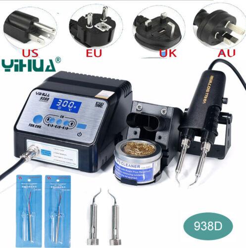 YIHUA938D Portable HOT Pinzette Mini Lötstation 220V W// Stand für BGA SMD