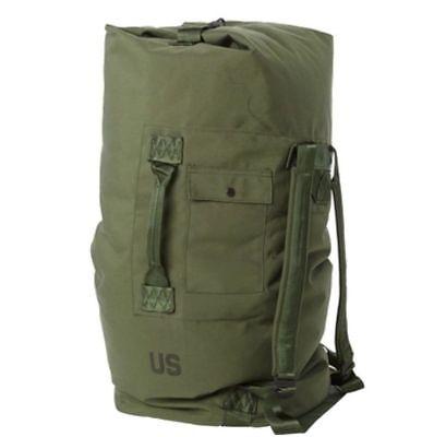 US Army Military Nylon Duffel Sea Bag, Green, USGI Issue 8465-01-117-8699 Good