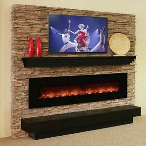 ELECTRIC FIREPLACE INSTALLATION ... STONE VENEER INCLUDED