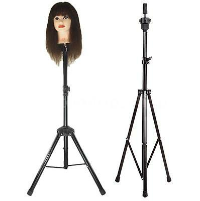 Professional Hairdressing Practice Head Tripod Hair Wig Head Stand Holder G8N3