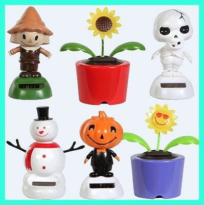 Solar Dancing Toys Flowers Bugs Animals Novelty Collectible Figures Sun Dancers - Solar Novelties