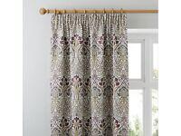 Stunning Dunelm Lucetta curtains , tie backs, Roman blind and 4 cushions