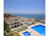 Albufeira, flat on the beach, duplex ocean view,2 pools, 2 bedrooms, 2 terraces, gardens