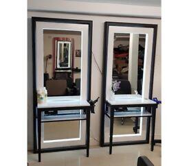 NEW Venice floor standing salon mirror stations