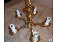 solid brass chandelier new & brass effect chandelier used