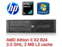 HP 6005 Pro SFF PC AMD Athlon II X2 B24 ,8GB RAM,250GB HARDDRIVE,WINDOWS7