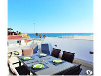 Christmas on the beach, luxury duplex ocean view, pool, 2 bedrooms, 2 terraces, garden