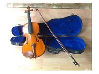 The Stentor Violin & Bow In Velvet Lined Hard Case