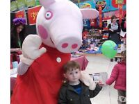 PEPPA PIG Mascot Mascots Childrens Party Hire NORTH SOUTH EAST WEST LONDON Surrey MEET GREET Near Me