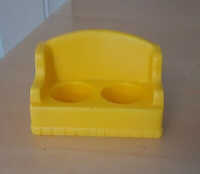 Vintage Fisher Price little people yellow 2-seat sofa/couch 997
