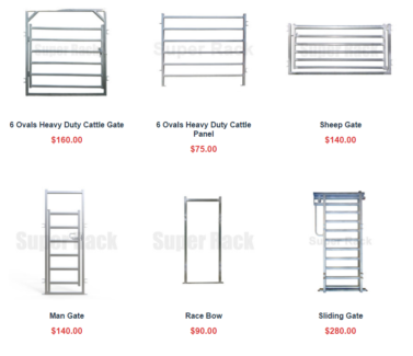 Horse Cattle Sheep Live Stock Yard Panel Gate Galvanized Steel