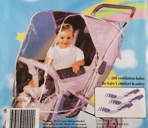 Stroller Weather Shield Waterproof Rain Cover- New Universal Fit -