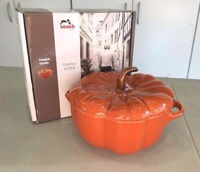 NEW STAUB 40511-554 Pumpkin Crocotte FALL 24 oz. Ceramic - Burnt Orange Cinnamon
