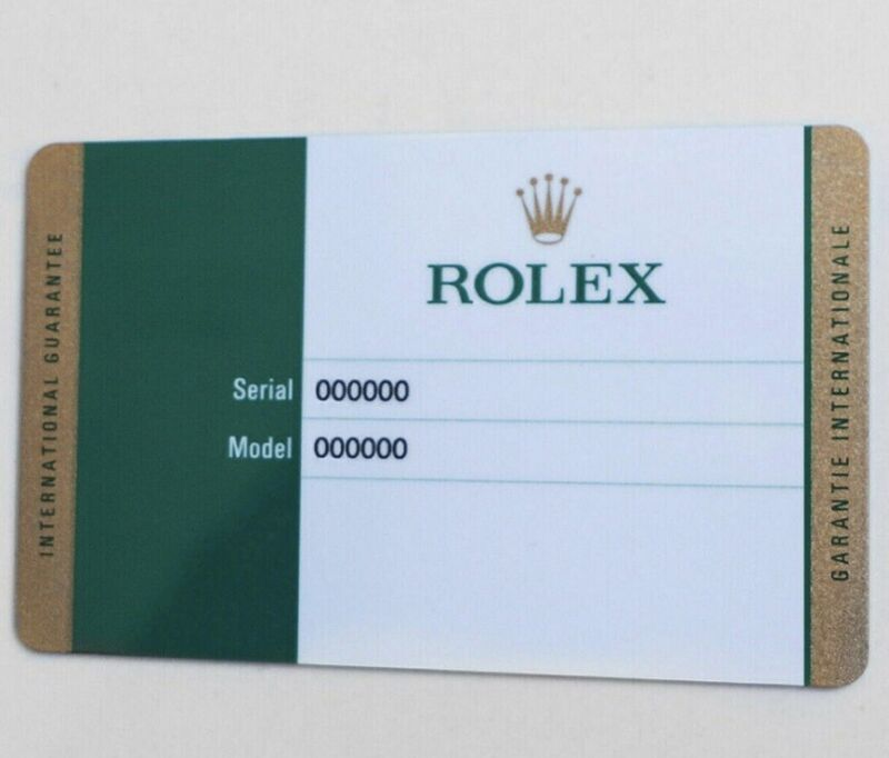 Rolex Warranty Card Restored Spec - Limited Avail (Second Generation)