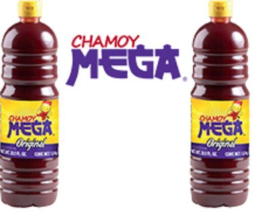 MEGA CHAMOY 2 BOTTLES 1LT each, Fruit & Snacks Seasoning, Sweet & Sour Souce