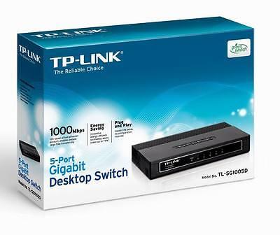 Tp-link (Tl-sg1005d) 5 Port Gigabit Ethernet Network Switch