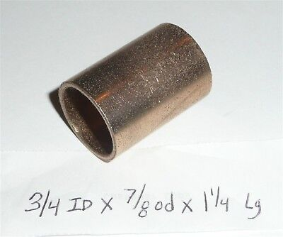 Oilite Bushing Bronze New 34 Id X 78 Od X 1 14 Brass Bearing Sleeve Bush B31