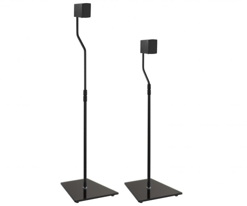 Speaker Floor Stands Surround Sound For TV Home Theater Cinema Adjustable