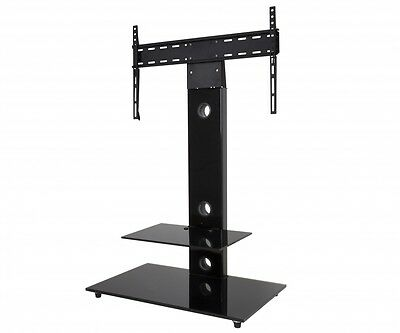 """Gloss Black TV Stand Cantilever With TV Wall Bracket for 32 - 55"""" inch LCD LED"""