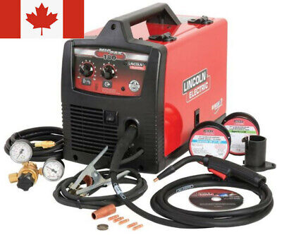Lincoln Electric Pro Mig Welder 180c Welding Kit Flux Core Wire Feed Auto