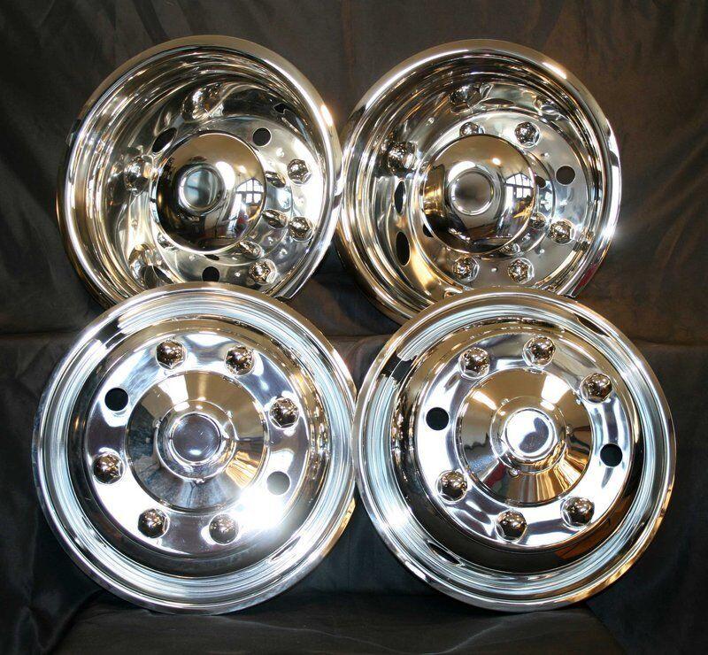 07 08 09 10 Chevy 19.5 Wheel Simulators Topkick Kodiak C4500 C5500 C6500 8 Lug