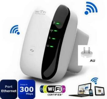 300Mbps 802.11 Wifi Repeater AP Range Signal Extender Booster NEW