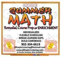 Summer math sessions available!