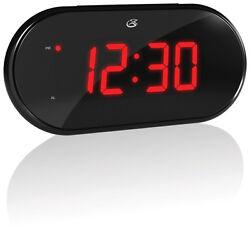GPX  6.77 in. Black  AM/FM Clock Radio  Digital  Plug-In