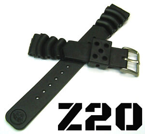 SEIKO Z20 RUBBER DIVER'S WATCH BAND BRACELET DIVE STRAP 20MM ST/STEEL BUCKLE