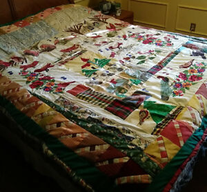 Hand Made  Quilt/Bedspread, Birds a Plenty