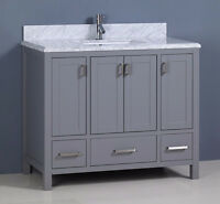 "42"" MONACO BATHROOM VANITY - GRAY"